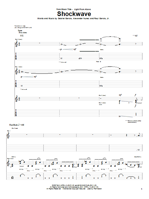Shockwave Sheet Music