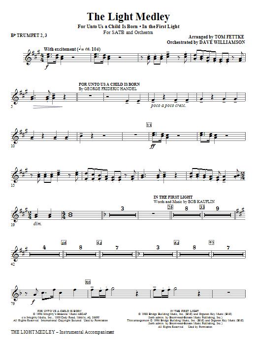 The Light Medley - Bb Trumpet 2,3 (Choir Instrumental Pak)