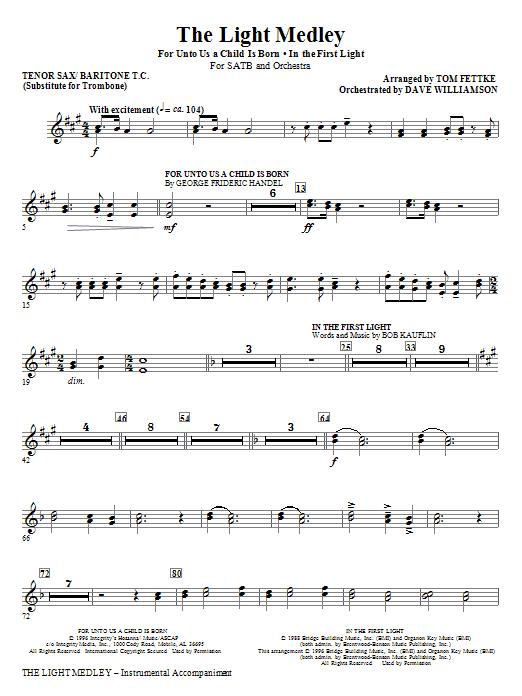 The Light Medley - Tenor Sax 1,2/Baritone TC 1,2 (Choir Instrumental Pak)
