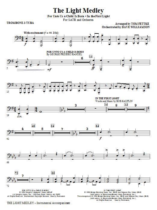 The Light Medley - Trombone 3/Tuba (Choir Instrumental Pak)
