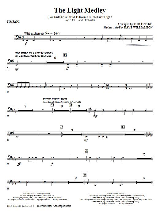 The Light Medley - Timpani (Choir Instrumental Pak)