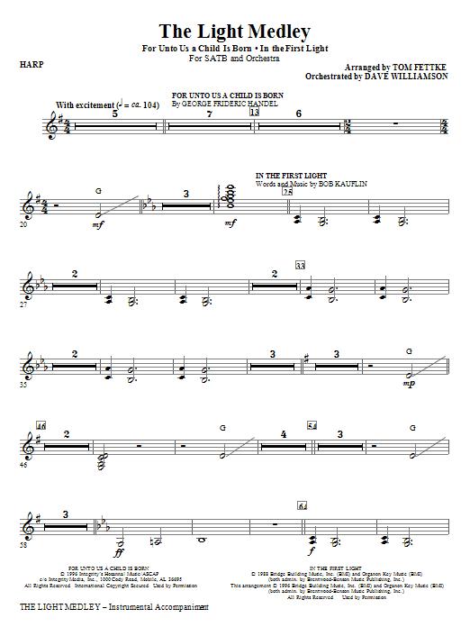The Light Medley - Harp (Choir Instrumental Pak)