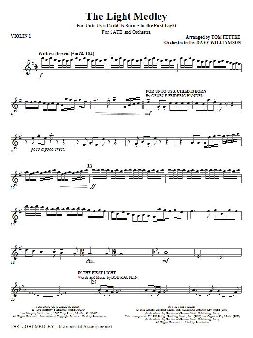 The Light Medley - Violin 1 (Choir Instrumental Pak)