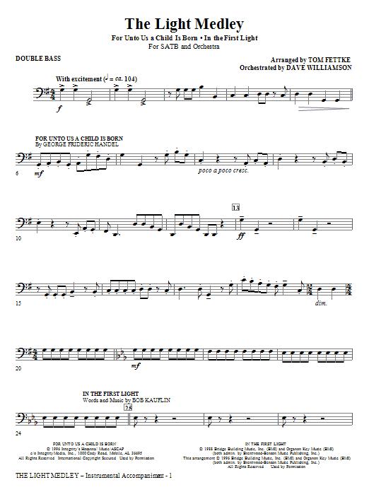 The Light Medley - Double Bass (Choir Instrumental Pak)