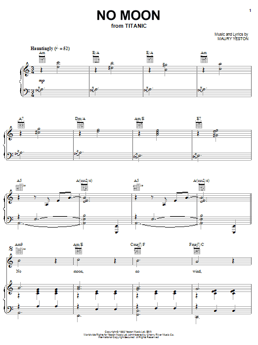 No Moon (from 'Titanic') Sheet Music