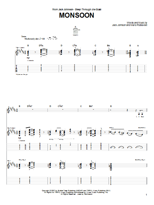 Monsoon Sheet Music