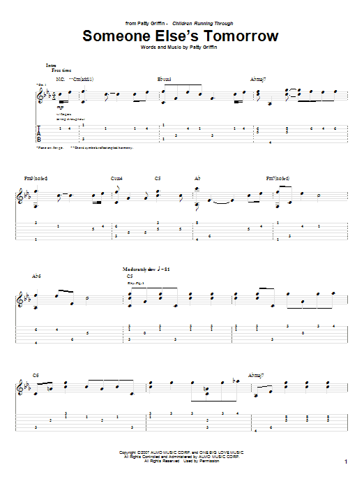 Someone Else's Tomorrow (Guitar Tab)