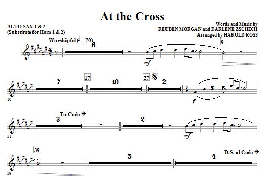 At The Cross - Alto Sax 1 & 2 (Sub. Horn) (Choir Instrumental Pak)