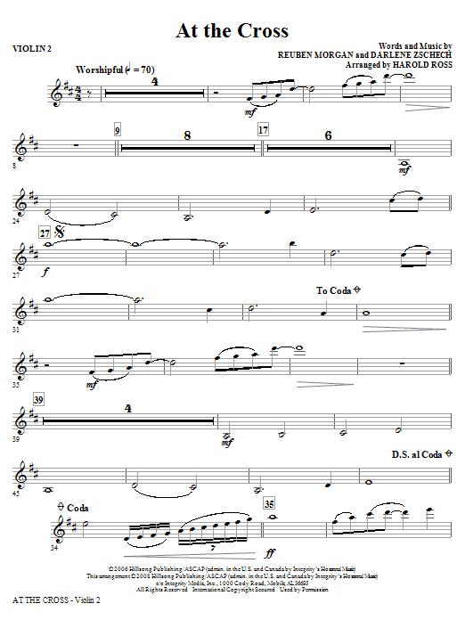 At The Cross - Violin 2 (Choir Instrumental Pak)