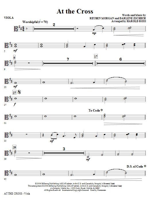 At The Cross - Viola (Choir Instrumental Pak)