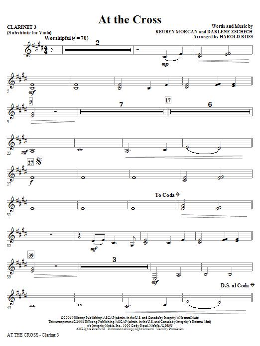 At The Cross - Clarinet 3 (Sub. Viola) (Choir Instrumental Pak)