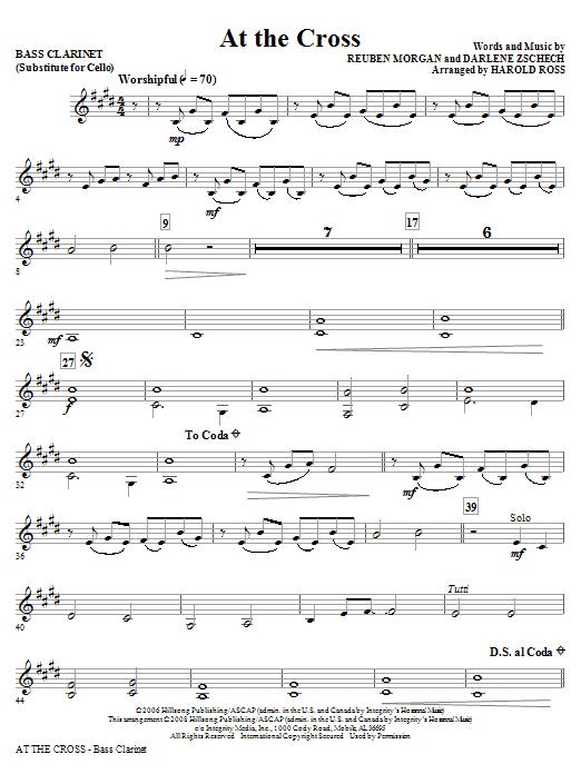At The Cross - Bass Clarinet (Sub. Cello) (Choir Instrumental Pak)
