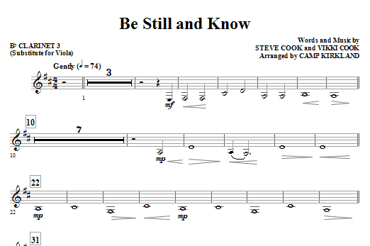 Be Still And Know - Cello Sheet Music