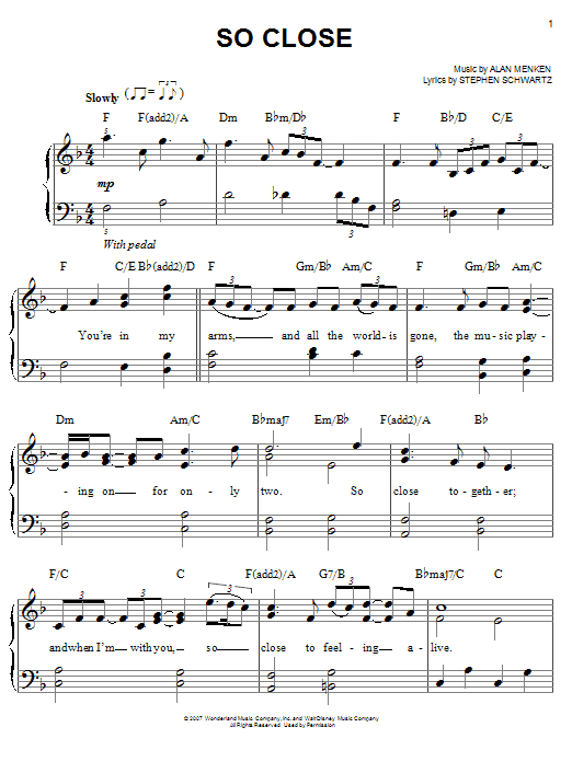 So Close Sheet Music