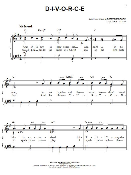 D-I-V-O-R-C-E (Easy Piano)