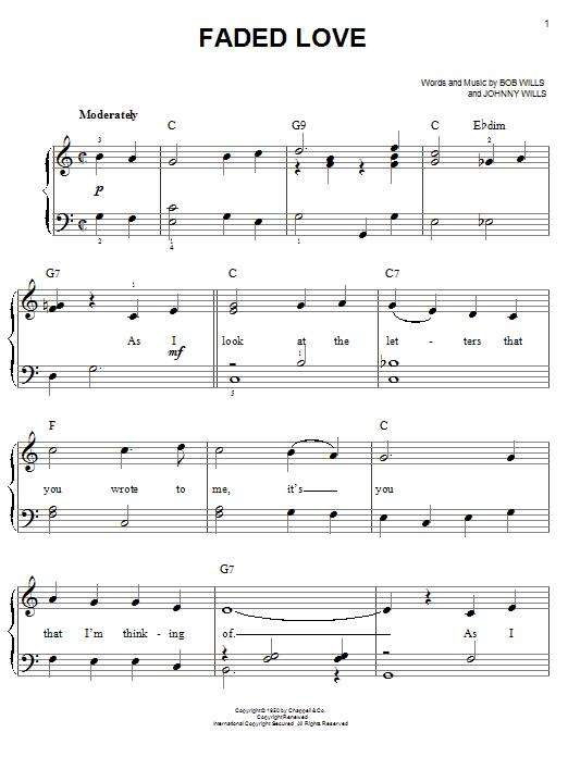 Faded Love (Easy Piano)