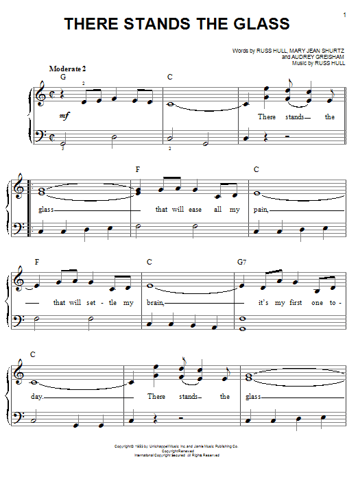 There Stands The Glass (Easy Piano)