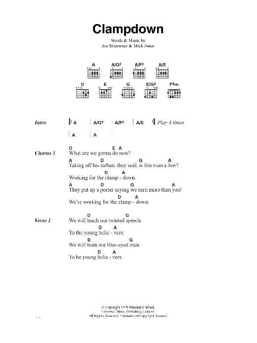 Clampdown Sheet Music