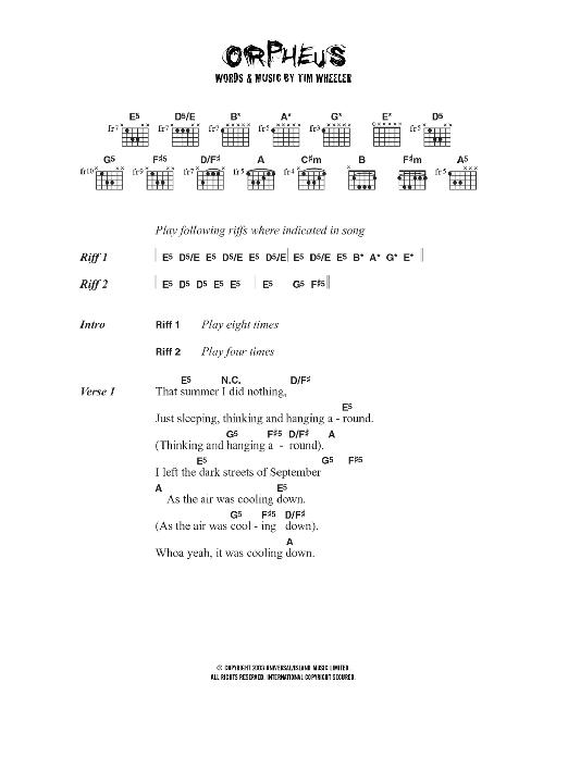 Orpheus Sheet Music