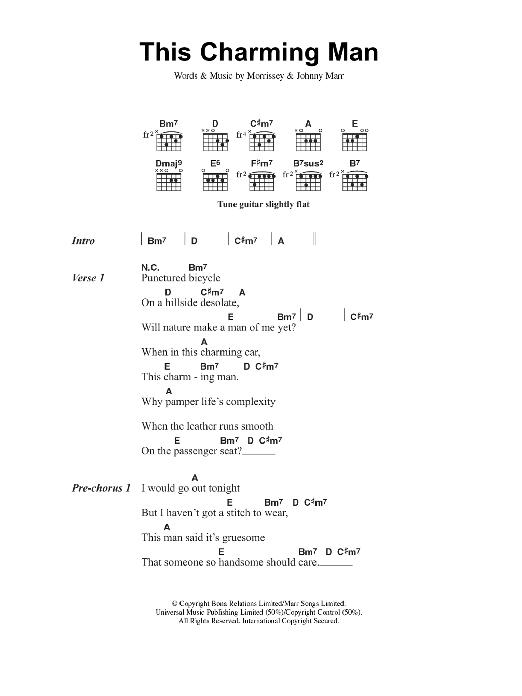 This Charming Man by The Smiths - Guitar Chords/Lyrics - Guitar ...