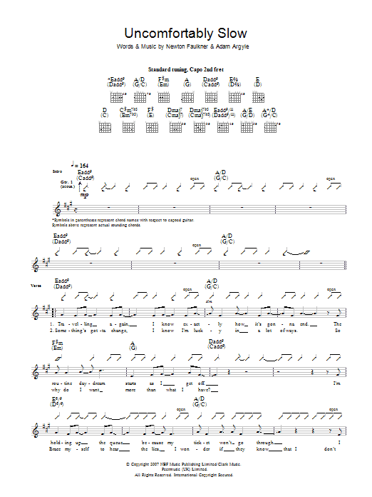 Uncomfortably Slow Sheet Music