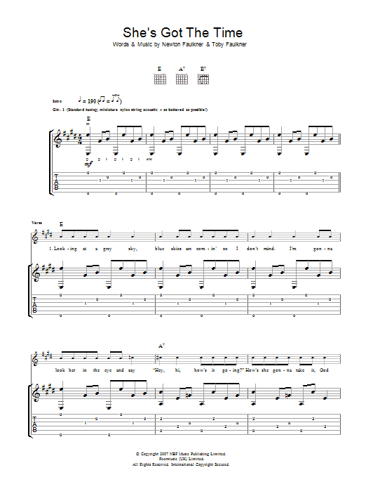 She's Got The Time (Guitar Tab)