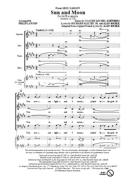 Sun And Moon (SATB Choir)
