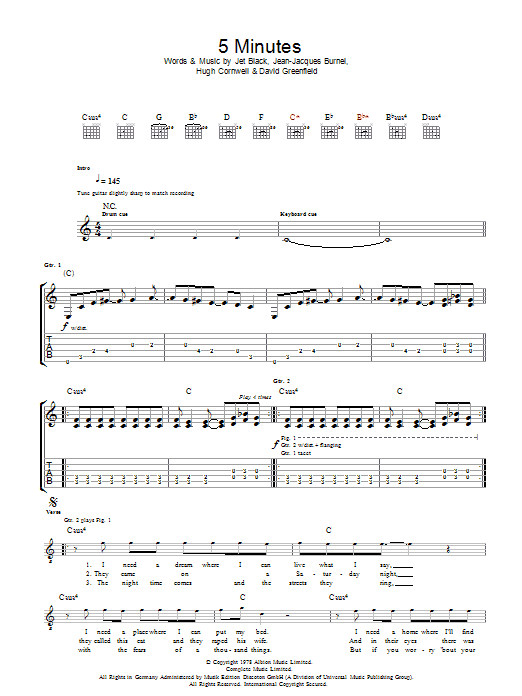 5 Minutes (Guitar Tab)