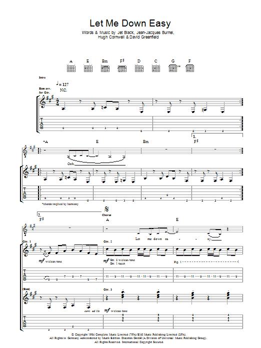 Let Me Down Easy (Guitar Tab)