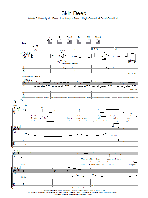 Skin Deep Sheet Music