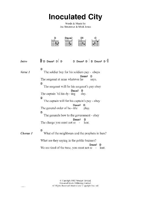 Inoculated City Sheet Music