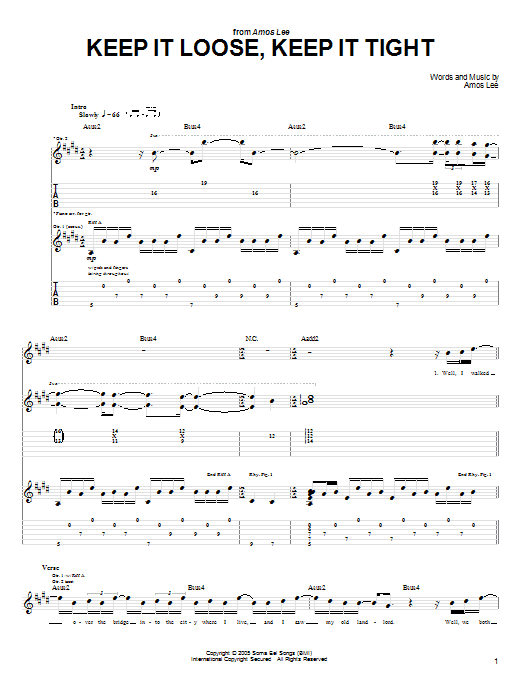 Keep It Loose, Keep It Tight (Guitar Tab)