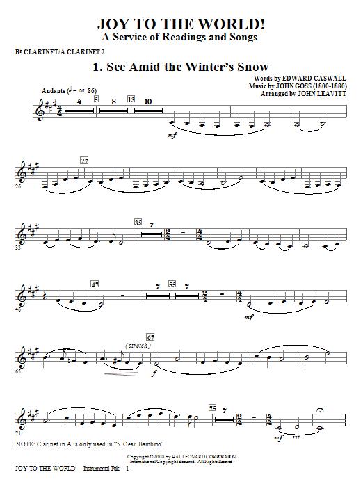 Joy To The World - Clarinet 2 Sheet Music