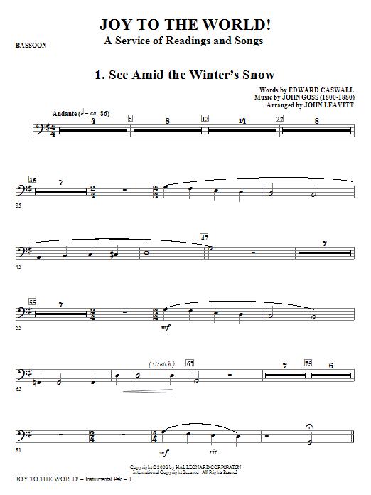 Joy To The World - Bassoon Sheet Music