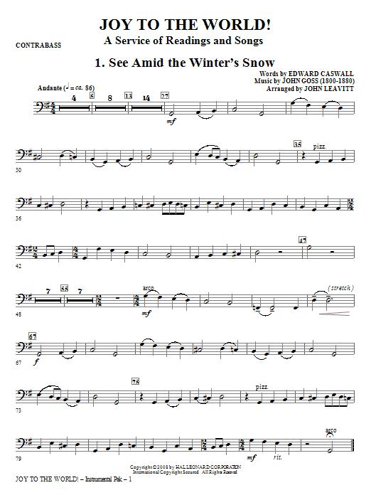 Joy To The World - Bass Sheet Music