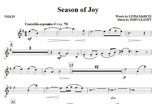 Season Of Joy - Violin (Choir Instrumental Pak)