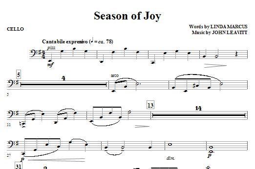 Season Of Joy - Cello Sheet Music