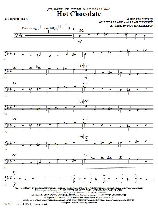 Hot Chocolate (from The Polar Express) - Acoustic Bass (Choir Instrumental Pak)