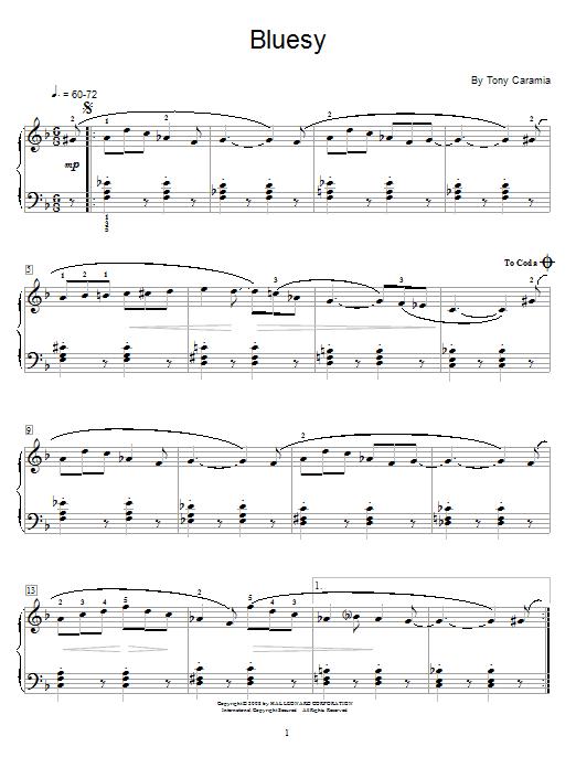 Partition piano Bluesy de Tony Caramia - Autre