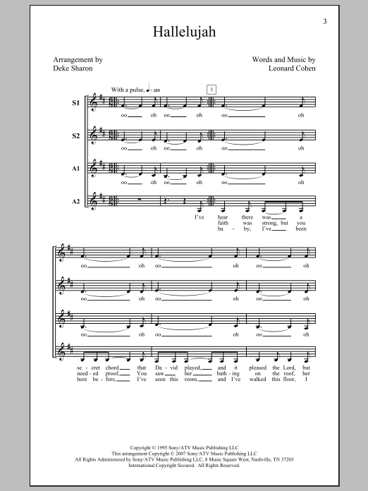 Hallelujah (arr. Deke Sharon) Sheet Music