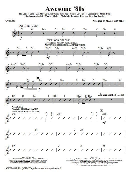 Awesome '80s (Medley) - Guitar (Choir Instrumental Pak)