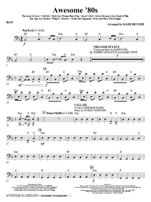 Awesome '80s (Medley) - Bass (Choir Instrumental Pak)