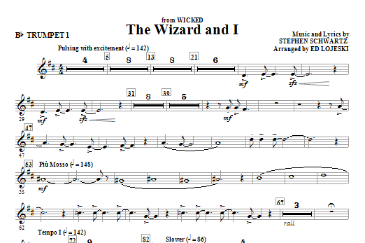 The Wizard And I (complete set of parts) sheet music for orchestra/band (chamber ensemble) by Stephen Schwartz and Ed Lojeski. Score Image Preview.