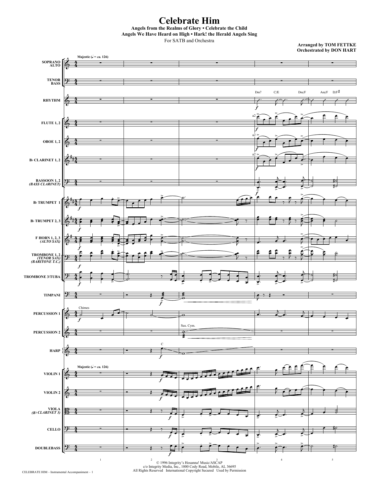 Celebrate Him (Medley) - Full Score Sheet Music