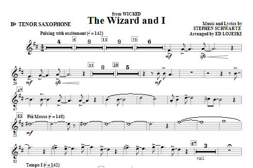 The Wizard And I - Tenor Sax (Choir Instrumental Pak)