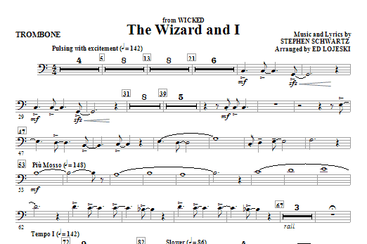 The Wizard And I - Trombone (Choir Instrumental Pak)