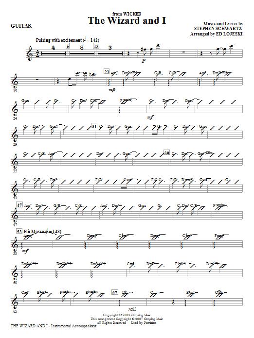 The Wizard And I - Guitar (Choir Instrumental Pak)
