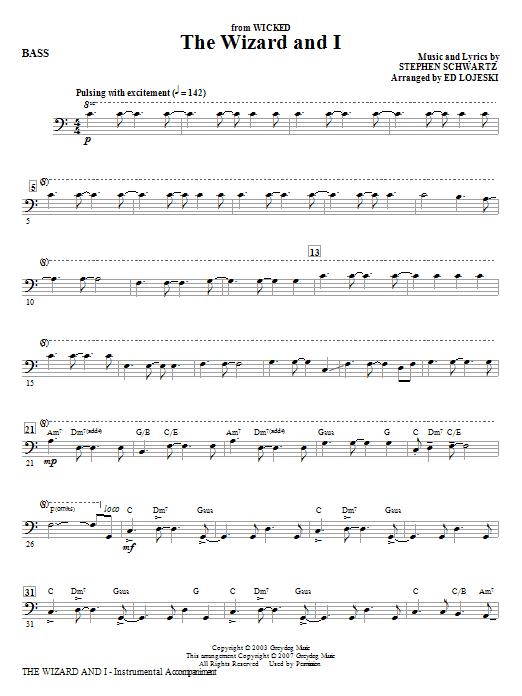 The Wizard And I - Bass (Choir Instrumental Pak)