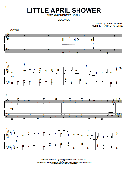 Little April Shower Sheet Music