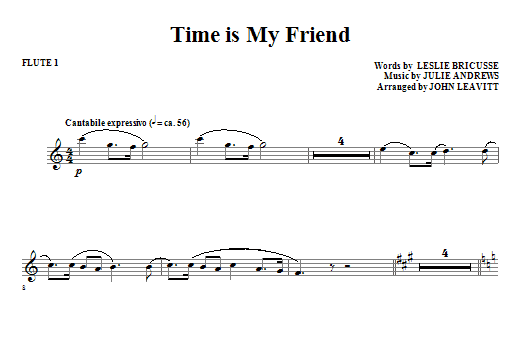 Time Is My Friend - Flute 1 (Choir Instrumental Pak)